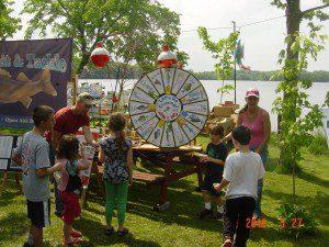 Having fun & winning prizes, Take a Kid Fishing day, May 27, 2012